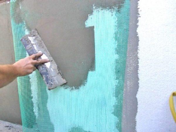 Армирование стены фасада