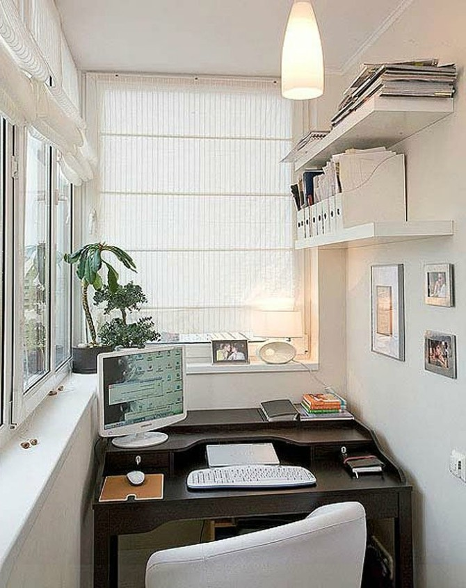 Обустройство кабинета на балконе и лоджии