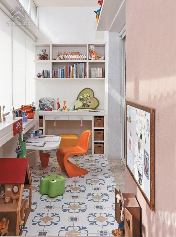 Детская (игровая) комната на балконе или лоджии