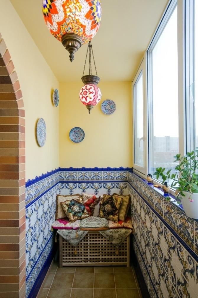 Как с красиво обустроить балкон или лоджию