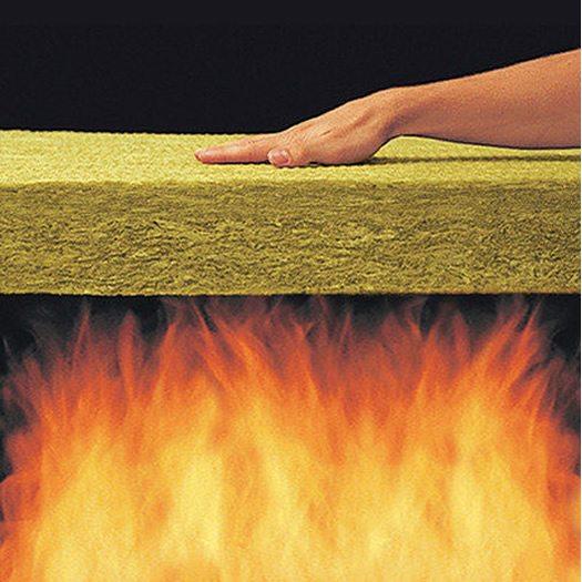 Базальтовая вата отлично противостоит горению