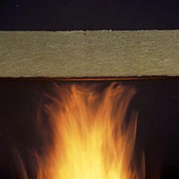 Базальтовая вата противостоит распространению огня