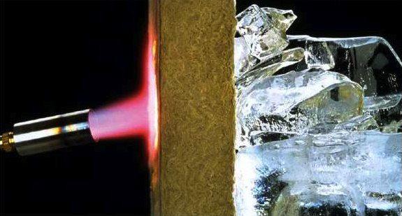 Базальтовая вата устойчива к воздействию огня