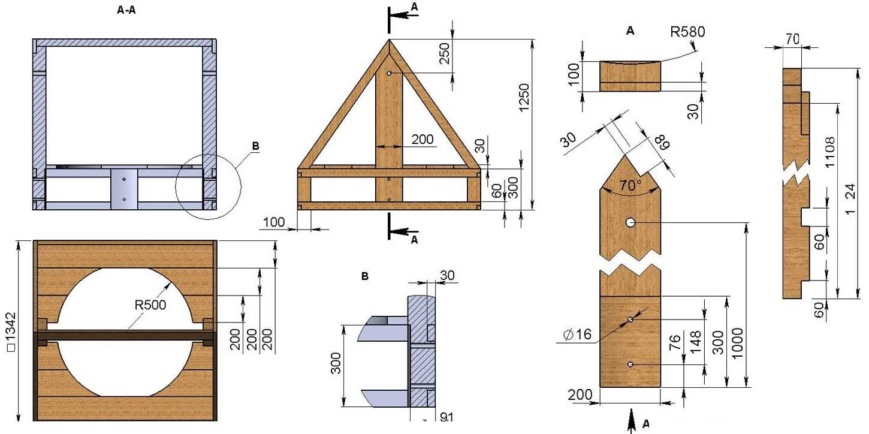 Домик для колодца своими руками чертежи и размеры
