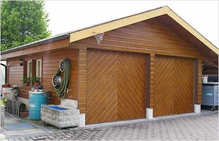 Деревянный утепленный гараж