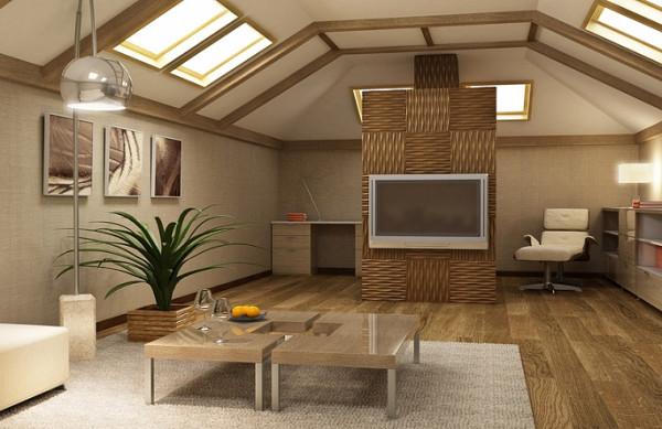 Дополнительные квадратные метры под крышей можно оформить \стильно и эффектно