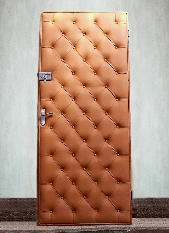Обшивка дверей своими руками фото
