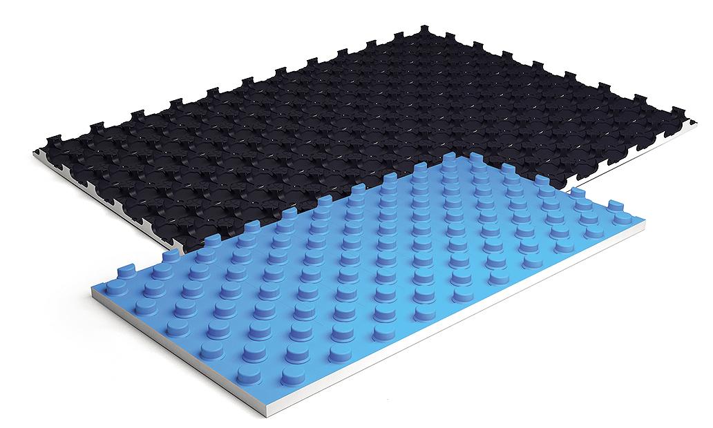 Это специальный утеплитель для водяного пола, который очень сильно упрощает процесс монтажа