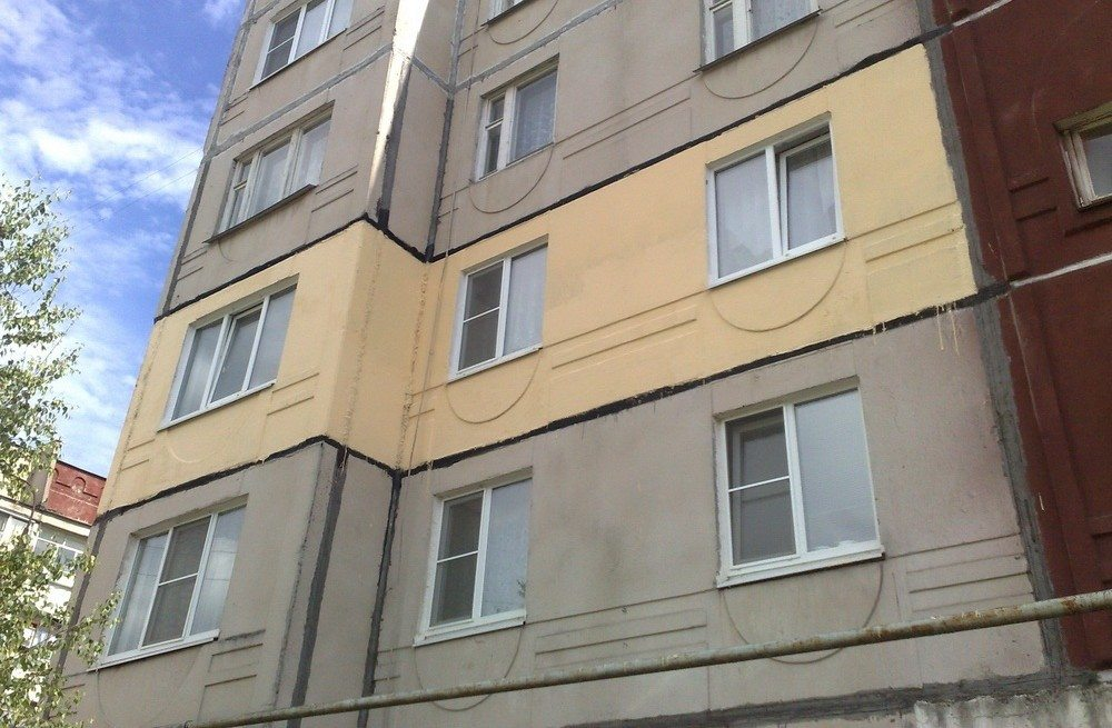 Фасад многоэтажного здания