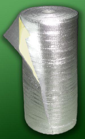 Фольгированный теплоизолятор с клейкой основой.