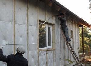 Фото - как утеплить стены дома снаружи самостоятельно