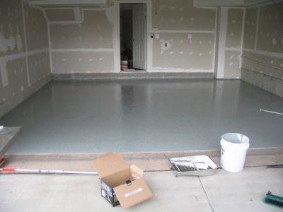 Фото бетонного пола с наливным утеплителем