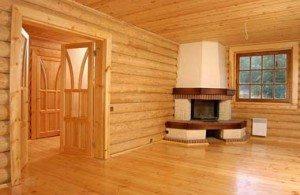 Фото деревянной стены изнутри в идеальном состоянии