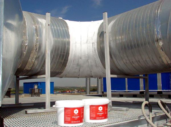 Фото теплоизоляции трубопровода.