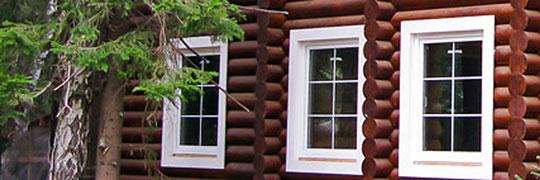 Фото: теплоизоляция пластиковыми окнами деревянных домов