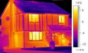 Фото: тепловизионный снимок дома