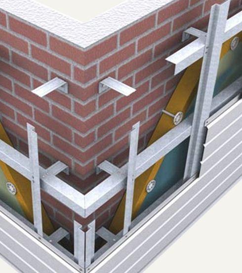 Фото в разрезе устройства вентилируемого фасада
