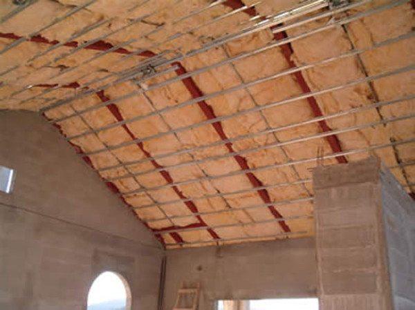 Фото варианта утепления ската крыши при едином пространстве.