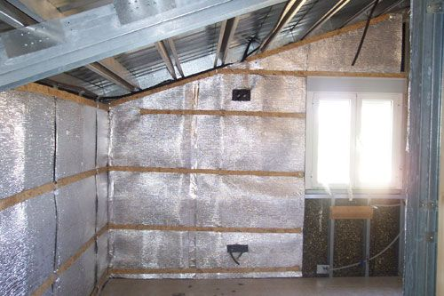 Фото: внутренняя теплоизоляция стен