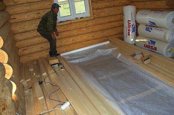 Как залить полы в деревенском доме