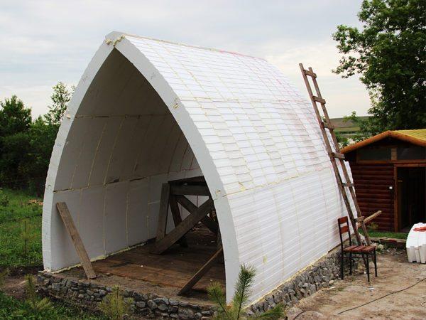 Готовый купол садового домика