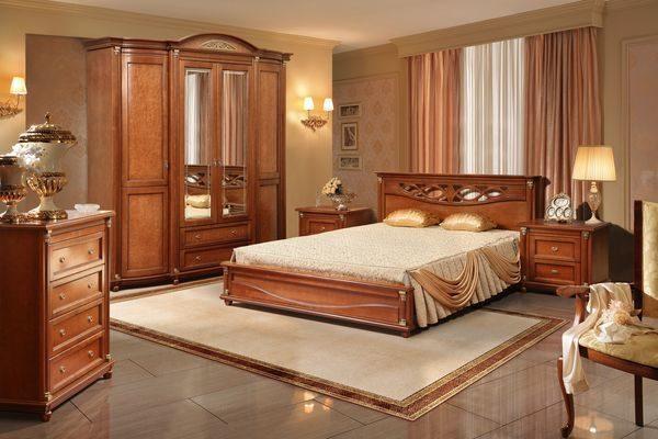 Комплект модульной мебели, изготовленной из дерева