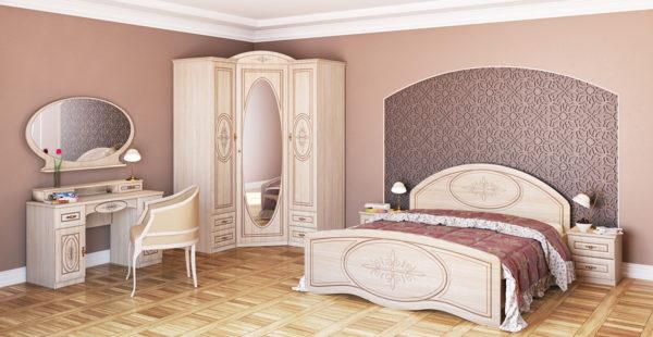Модульная мебель для спальни с угловым шкафом