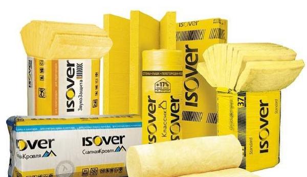 Isover производится в различном исполнении: рулоны, плиты, щиты