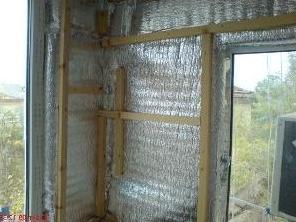 Использование материалов теплоизоляторов со слоем алюминиевой фольги