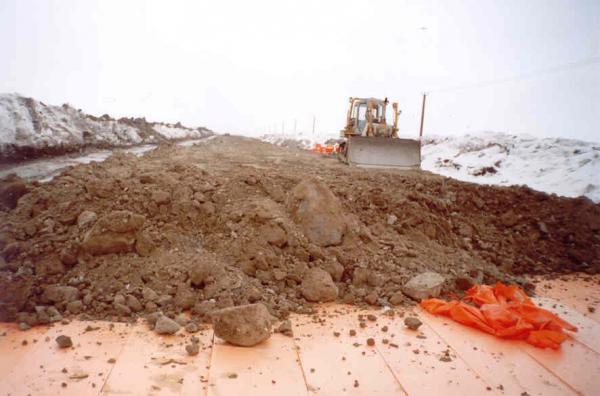 Использование Пеноплекса 45 при постройке дороги