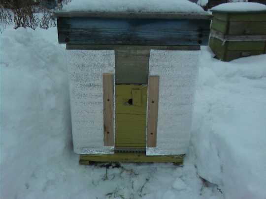 Источником тепла в улье служат сами пчелы. Задача пчеловода - сократить его потери.