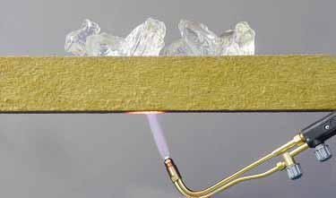 Класс горючести гарантирует безопасность утеплителя