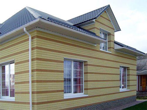 Коттедж с вентилируемым фасадом