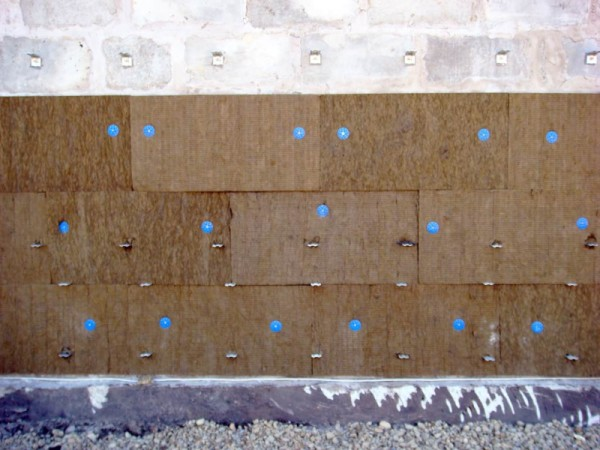 Крепление минеральной ваты на фасад