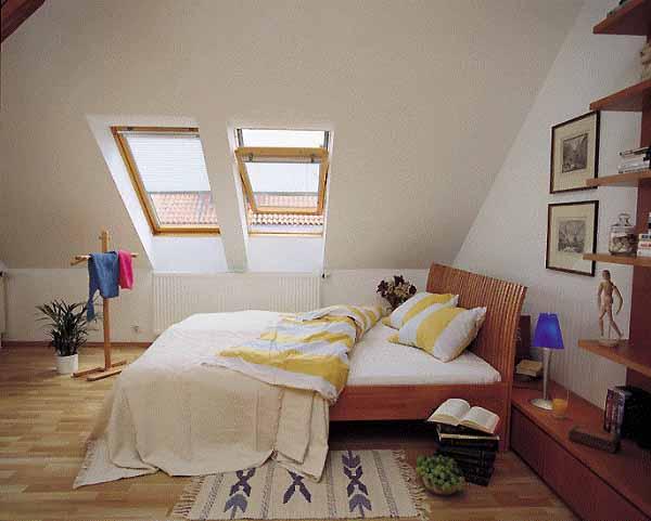 Мансарда может быть по-настоящему уютным местом для спальни.