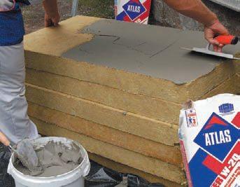 Материал покрывают обычным плиточным клеем и фиксируют на стену или другую поверхность.