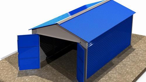 Металлический гараж до начала работ