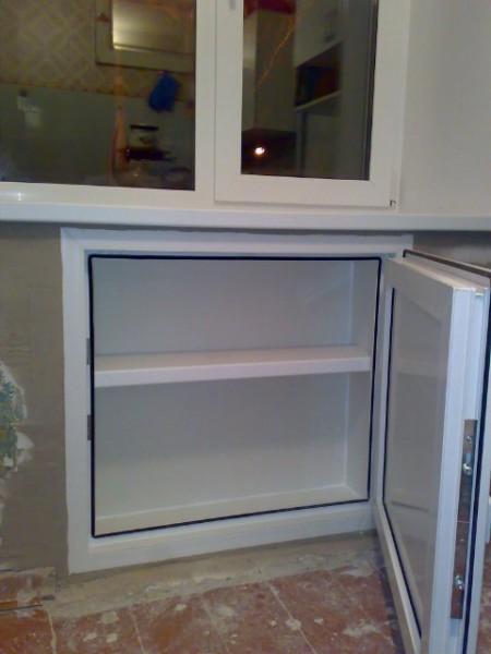 Металлопластиковая дверца для холодильной ниши