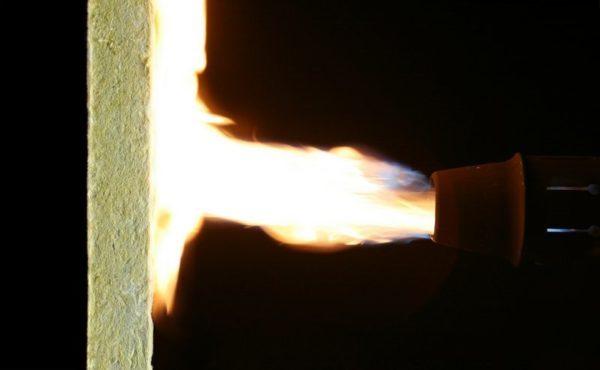 Минвата не горит даже под прямым воздействием огня