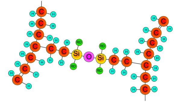 Молекулярно сшитый полиэтилен: связи между молекулами.