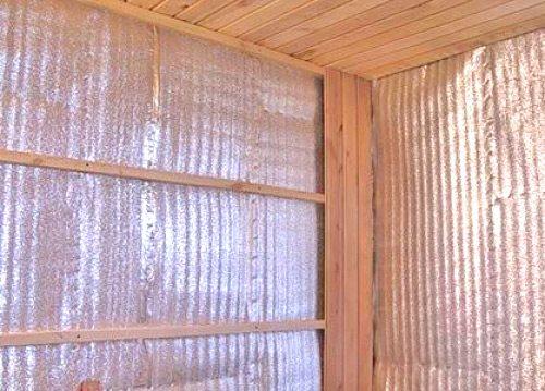 Монтаж фольгированного утеплителя отражающим слоем внутрь помещения