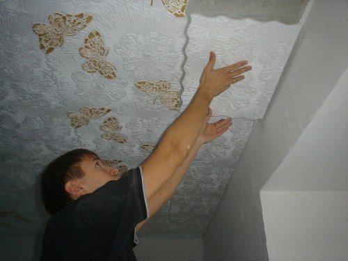 Монтаж потолочной плитки на клей Titan Wild