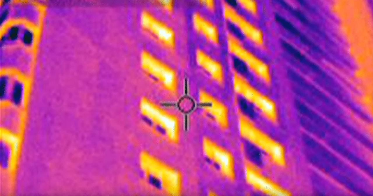 На этом фото преобладают синие и фиолетовые тона, что свидетельствует о значительном падении температуры.