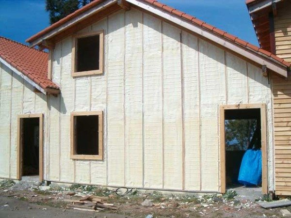 На фото дом, утепленный по новейшим технологиям