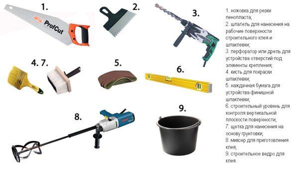 Набор инструментов для работы с пенопластом и полистиролом