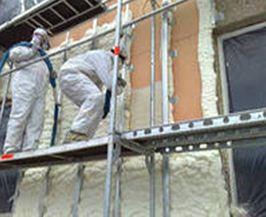 Напыление теплоизоляции на фасады
