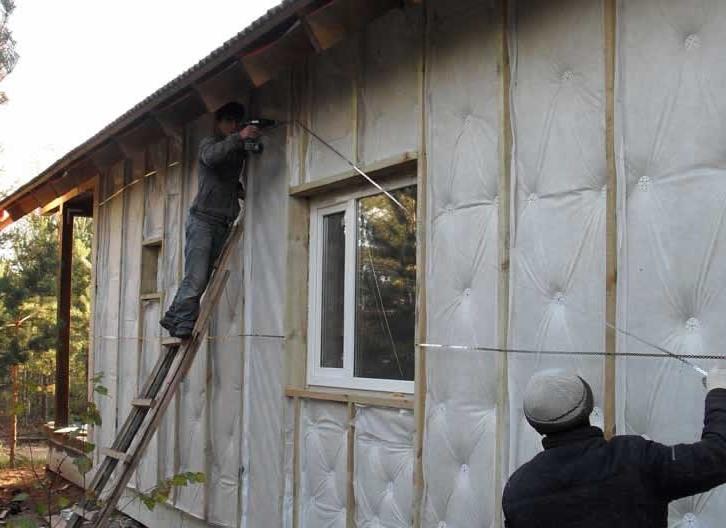 Утепляем с наружи дом своими руками