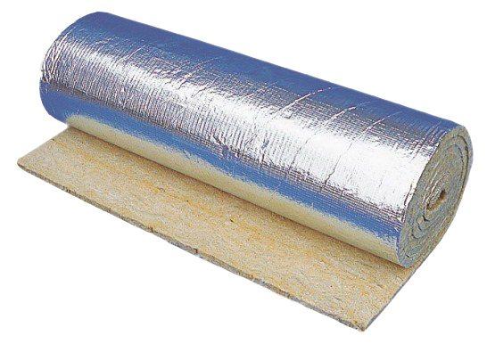 Некоторые виды рулонных материалов покрывают фольгой для ветро- и парозащиты.