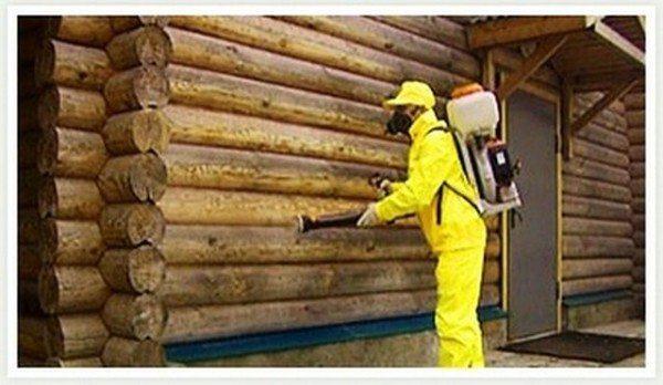 Обработка древесины антипиренами