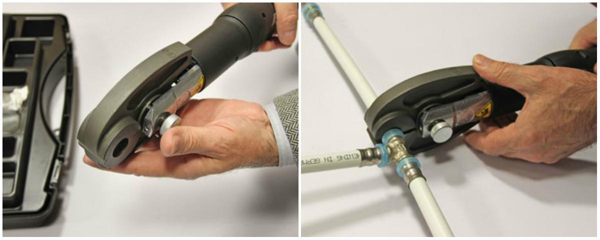 Обжимной инструмент для металлопластиковых изделий серьезно ускоряет процесс